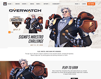 Sigma Maestro Challenge - Overwatch Event Site