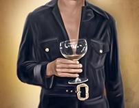 Paul Mooney Digital Oil Painting by Wayne Flint