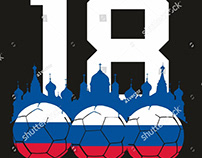 Russia Soccer football graphic design vector art