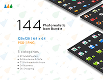 144 Photorealistic Icon Bundle