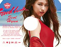 AOA JPN single album  Good Luck cd cover.