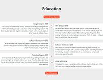 Resume WordPress Theme - Education Section