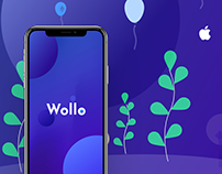 Wollo - Cryptocurrency Smart Wallet iOS App for iPhoneX