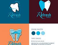 Refresh Dental Logo Brand