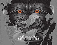 Kong: Skull Island- Vector Line Poster