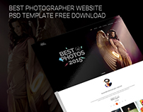 Photographer Website PSD Template Free Download