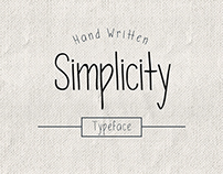 Simplicity - new hand written type