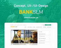 Bank SLM | Concept, UX- & UI-Design