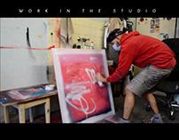 Work in the studio
