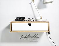Floating Nightstand / Bedside Table / Drawer in Oak