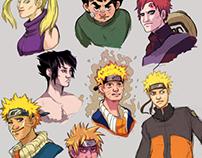 Naruto portrait sketches