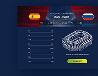 Kick-offs matches of the FIFA World Cup at stadiums in