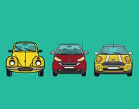 Iconic Cars | Illustrations