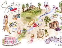 Mapa Santiago/Chile
