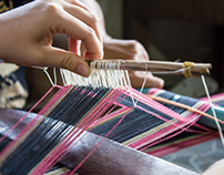 Lawa Hill Tribe Cloth Weaving in Thailand