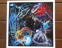 Deep sea creatures - Art print