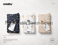 Muslin Swaddle Blanket Mockup Set (15/LFv.2)