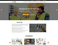 Modern Construction Company web template