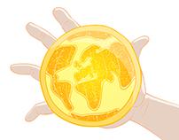 Orange earth animation