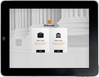Advocate - Law IOS App Design