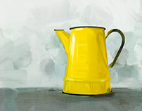 Enamelware Coffeepot, yellow