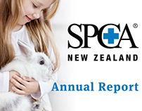 SPCA Annual Report - Graphic design