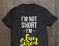 "T-Shirt Design: ""Fun-Sized"""