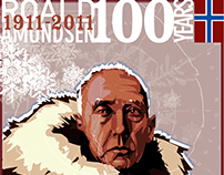 Roald Amundsen Commemorative Illustration