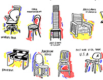 Poster Design: Industrial Design History in 20 Chairs