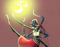 Indian Dancer character design cartoon