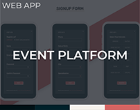Event Platform Web App Design Concept