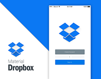 Material Dropbox Design Animation