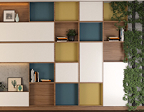 Office Storage Library Unit - Bookshelves & Bookcases