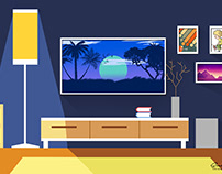 Living Room : Flat VectorIllustration