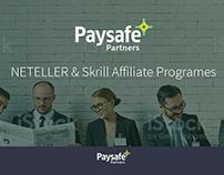 Paysafe affiliate program Concept design