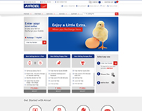 Aircel Ecommerce visual design