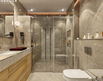Modern hotel bathroom design