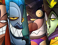 Portrait of a Villain - Disney movies characters