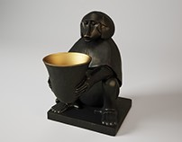 CGI - Eichholtz Monkey Lamp 3d model