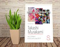 Cartel exposición Takashi Murakami