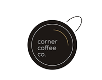 corner coffee co. brand sheet & logo set