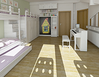 Children room design and adaptation