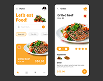 Let's eat Food! - Mini Project- Free temlate on Figma