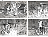 Storyboard for mystery short