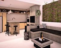 Espaço de churrasco - Living externo - Ofurô