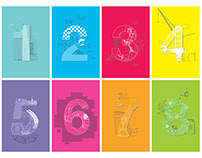 'Numbers' illustrated dividers
