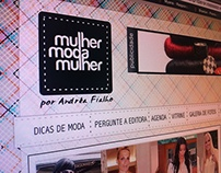 Layout Site Mulher Moda Mulher
