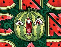 Anacondaz: watermelon font