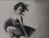 """""""Intention"""" - Figurative Charcoal Drawings"""