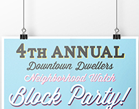 Community Block Party Poster